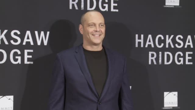 """vince vaughn at """"hacksaw ridge"""" - washington dc special screening and q+a on october 28, 2016 in washington, dc. - vince vaughn stock videos & royalty-free footage"""