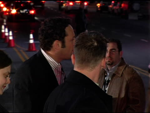 vince vaughn at the 'be cool' los angeles premiere at grauman's chinese theatre in hollywood, california on february 14, 2005. - vince vaughn stock videos & royalty-free footage