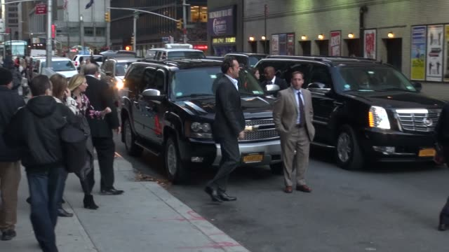 vince vaughn at the 'late show with david letterman' studio at celebrity sightings in new york in new york, ny, on . - vince vaughn stock videos & royalty-free footage