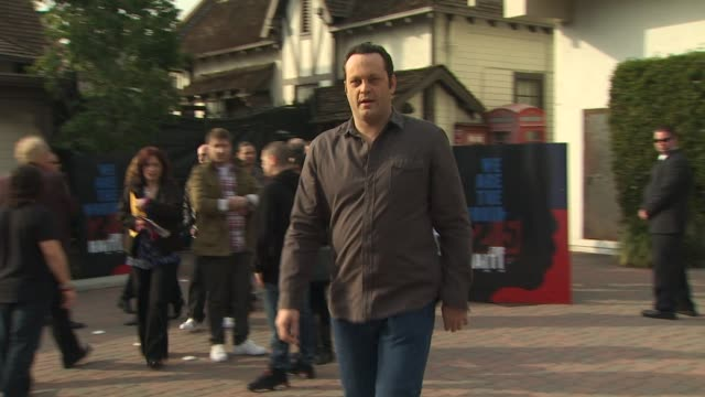 vince vaughn at the we are the world 25th anniversary recording for haitian earthquake relief at los angeles ca - 25th anniversary stock videos and b-roll footage