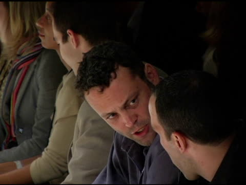 vince vaughn attends the iron fashion show at the iron fashion show at lightbox, smashbox studios in culver city, california on march 20, 2005. - vince vaughn stock videos & royalty-free footage