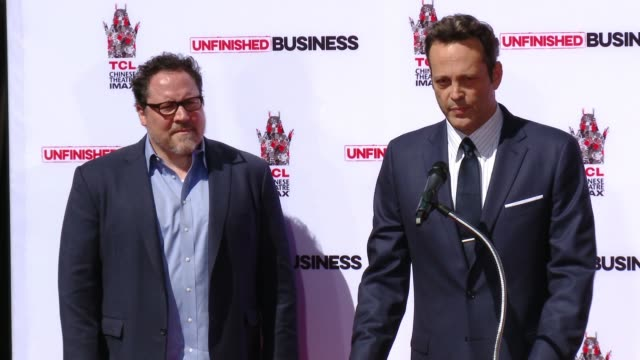 vince vaughn immortalized with handprint-footprint ceremony at tcl chinese theatre imax on march 04, 2015 in hollywood, california. - vince vaughn stock videos & royalty-free footage
