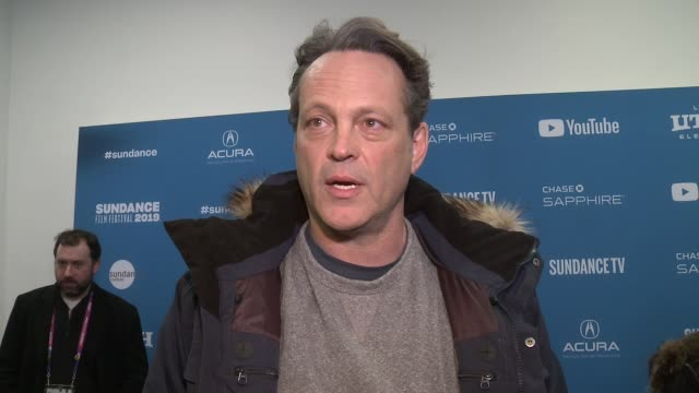 """vince vaughn on wrestling and his new film at """"fighting with my family"""" sundance special screening and premiere on january 28, 2019 in park city,... - vince vaughn stock videos & royalty-free footage"""