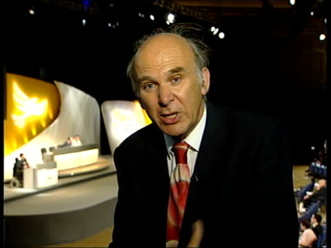 vincent cable mp interview sot i am concerned about the impact it would have on the labour force/ i think the unions understand that if you work out... - john w. snow politician stock videos and b-roll footage