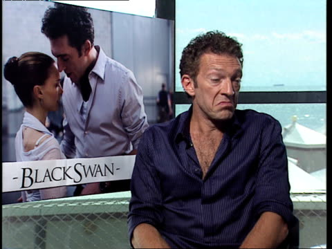 vincent cassel on working with darren aronofsky and giving input into the film at the black swan interviews 67th venice film festival at venice - darren aronofsky stock videos and b-roll footage