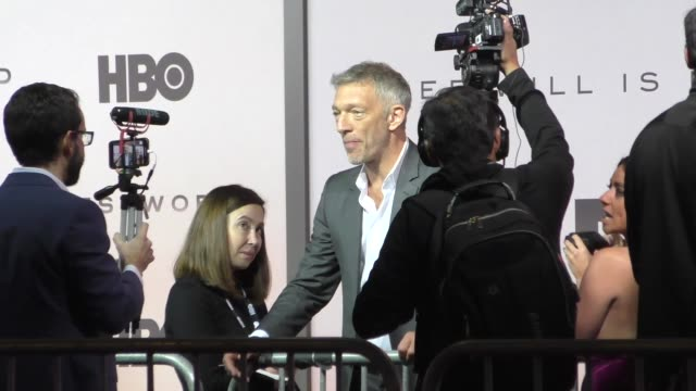 vincent cassel outside the westworld season 3 premiere at tcl chinese theatre in hollywood in celebrity sightings in los angeles - mann theaters stock videos & royalty-free footage