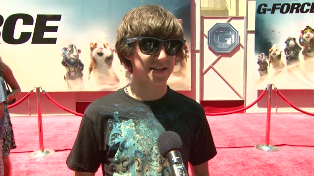 vincent martella on the event, guinea pigs as pets at the 'g-force' premiere at hollywood ca. - g force stock videos & royalty-free footage