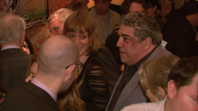 vincent pastore and chloe sevigny at north american premiere of lilyhammer a netflix original series at crosby street hotel on 02/01/12 in new york - vincent pastore stock videos and b-roll footage