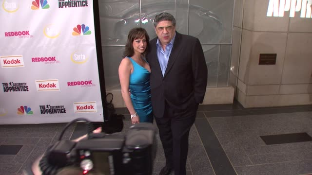 vincent pastore and guest at the finale of 'the celebrity apprentice' at rockefeller center in new york new york on march 27 2008 - vincent pastore stock videos and b-roll footage
