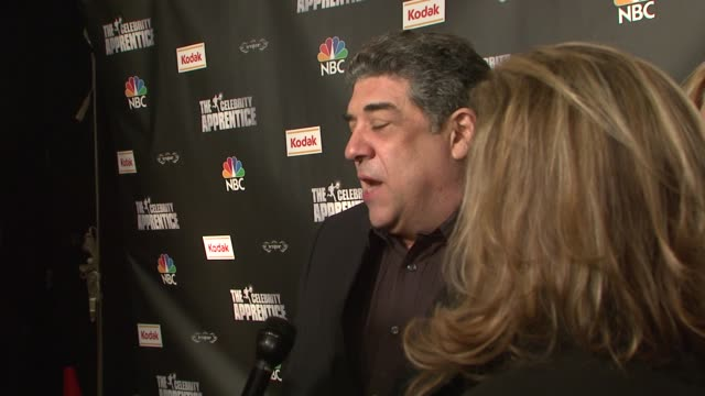 vincent pastore at the 'celebrity apprentice' viewing party at tenjune in new york new york on february 7 2008 - vincent pastore stock videos and b-roll footage