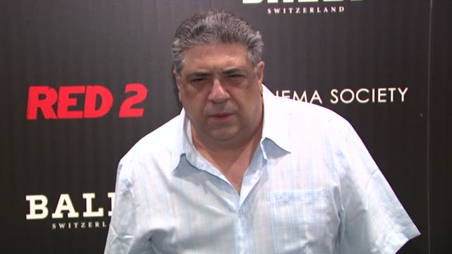 vincent pastore at the cinema society and bally host a screening of summit entertainment's red 2 at museum of modern art on july 16 2013 in new york... - vincent pastore stock videos and b-roll footage