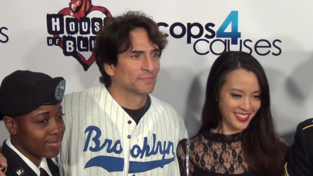 vincent spano brenda li arriving at cops 4 causes 2nd annual heroes helping heroes benefit concert at house of blues in west hollywood 09/11/13... - benefit concert stock videos and b-roll footage