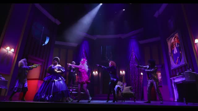 """vinegar strokes, anna phylactic, kemah bob, holly stars and courtney act during the """"death drop"""" dress rehearsals at garrick theatre on december 3,... - reality tv stock videos & royalty-free footage"""