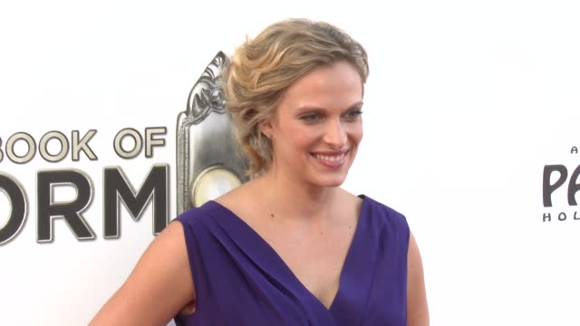 vinessa shaw at the book of mormon los angeles opening night on 9/12/12 in los angeles ca - mormonism stock videos & royalty-free footage