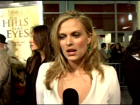 vídeos y material grabado en eventos de stock de vinessa shaw on the message behind the movie, her character and what she is looking forward to at the fox searchlight pictures' 'the hills have eyes'... - arclight cinemas hollywood