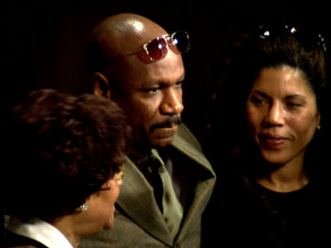 ving rhames speaks to a reporter. - scriptwriter stock videos & royalty-free footage