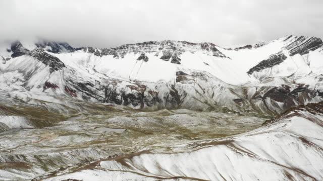 vinicunca rainbow mountain / peru - pinstripe stock videos & royalty-free footage