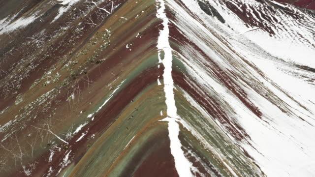 vinicunca rainbow mountain / peru - icecap stock videos & royalty-free footage