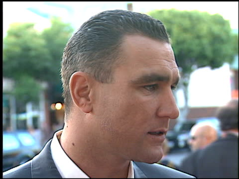 vinnie jones at the 'mickey blue eyes' premiere at the bruin theatre in westwood, california on august 17, 1999. - vinnie jones stock videos & royalty-free footage