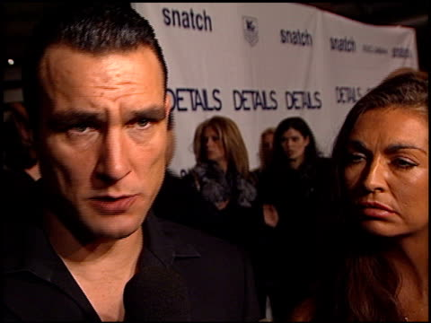 vinnie jones at the 'snatch' premiere at dga in los angeles california on january 18 2001 - vinnie jones stock videos & royalty-free footage