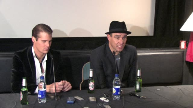 vinnie jones on his advice to alex reid on alex being an actor on alex's future at the celebrity big brother winner's press conference at borehamwood... - vinnie jones stock videos & royalty-free footage
