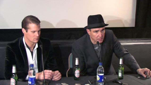vinnie jones on his son going to afghanistan in the army at the celebrity big brother winner's press conference at borehamwood england - vinnie jones stock videos & royalty-free footage