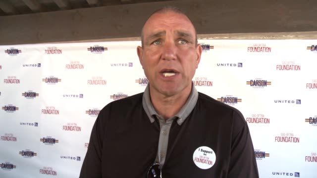 vinnie jones on why it was important for him to play in the sag-aftra foundation golf classic, the importance of having a foundation that' supports... - vinnie jones stock videos & royalty-free footage