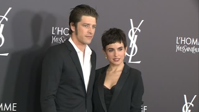 vinnie woolston and veronica echegui attend the yves saint laurent beauty cocktail party - saint laurent stock videos & royalty-free footage