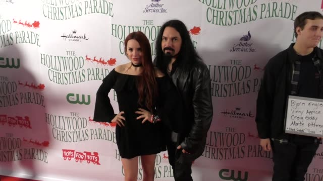 vinny appice at the 86th annual hollywood christmas parade on november 26 2017 in hollywood california - sfilata di natale di hollywood video stock e b–roll
