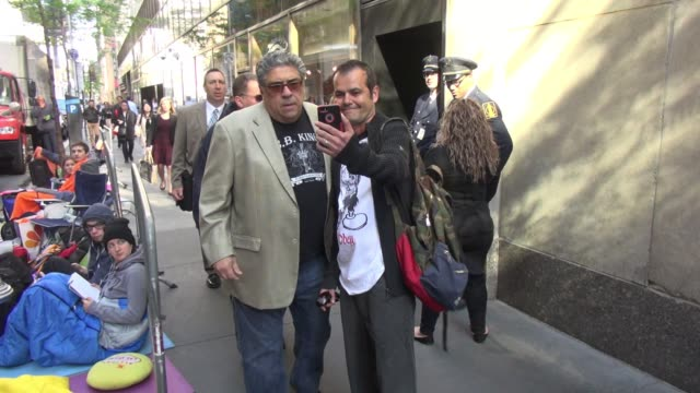vinny pastore arrives at the 'today' show celebrity sightings in new york on may 14 2015 in new york city new york - vincent pastore stock videos and b-roll footage