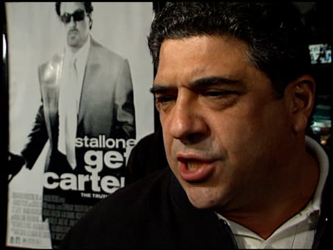 vinny pastore at the 'get carter' premiere on october 3 2000 - vincent pastore stock videos and b-roll footage