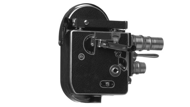 hd vintage 16mm movie camera - lens optical instrument stock videos & royalty-free footage