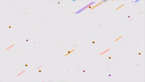 vídeos y material grabado en eventos de stock de vintage 80s 90s estilo retro fondo con formas abstractas geométricas movimiento stock video - diseño temas