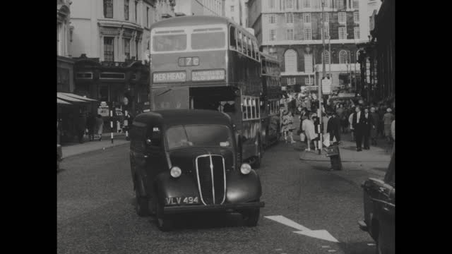 vintage black and white home movie footage of liverpool, england circa 1953. - history stock videos & royalty-free footage