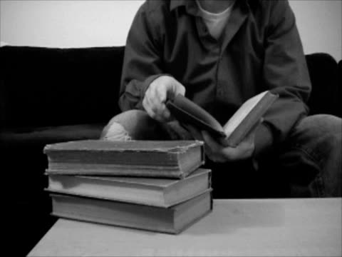 vintage books (ntsc) - coffee table stock videos & royalty-free footage