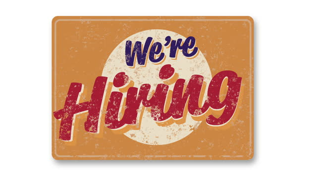 we're hiring vintage business sign flips down and swings - classified ad stock videos & royalty-free footage