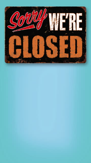 sorry we're closed vintage business sign flips down on green screen - swinging stock videos & royalty-free footage