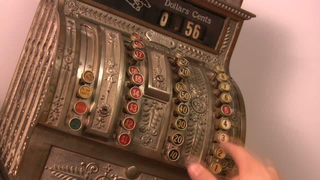 hd vintage cash register - cash register stock videos and b-roll footage