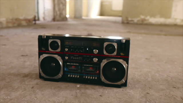vintage cassette boombox - radio stock videos & royalty-free footage