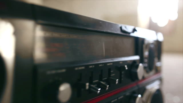 vintage cassette boombox - funky stock videos & royalty-free footage