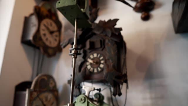 vintage clock - clock stock videos & royalty-free footage