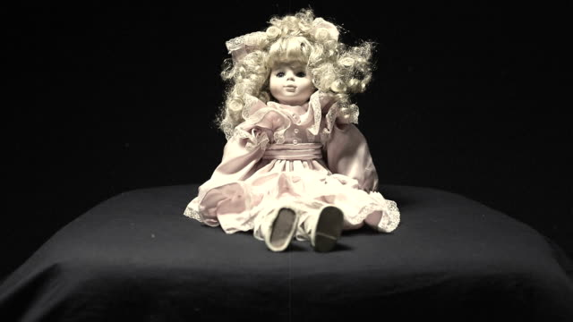 vintage creepy old doll - doll stock videos and b-roll footage