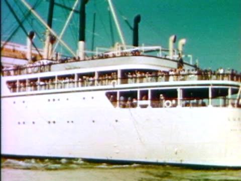 Vintage cruise ship
