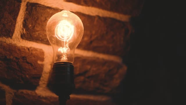 vintage filament  bulb lighting - light bulb stock videos and b-roll footage