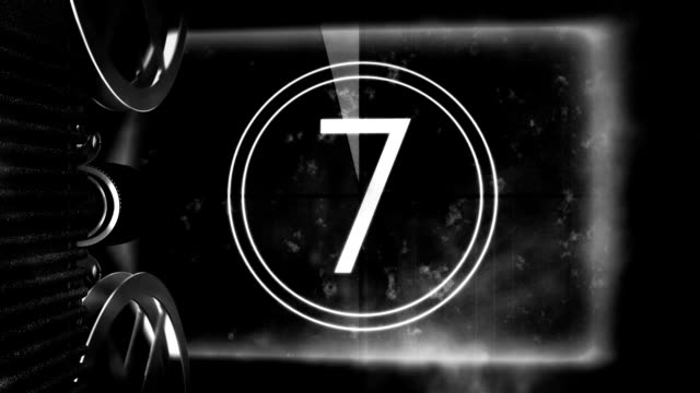 vintage film projector countdown - unfashionable stock videos & royalty-free footage