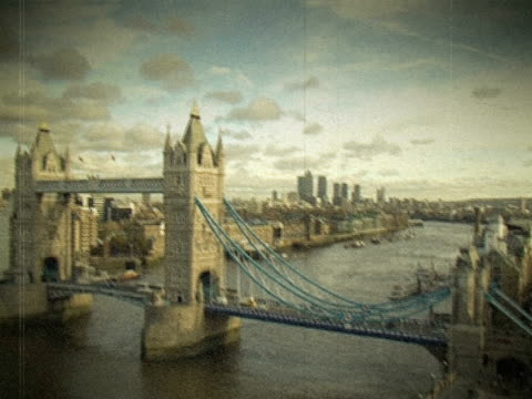 Vintage Film photo de Londres de Tower Bridge. NTSC ET PAL