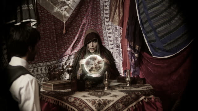 vintage fortune teller - fortune telling stock videos and b-roll footage