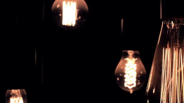 vintage light bulbs - old lightbulb stock videos and b-roll footage
