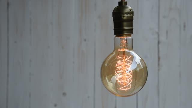 vídeos y material grabado en eventos de stock de hd: decoración vintage iluminación - luz eléctrica