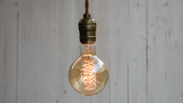 hd: vintage lighting decor - light bulb stock videos and b-roll footage